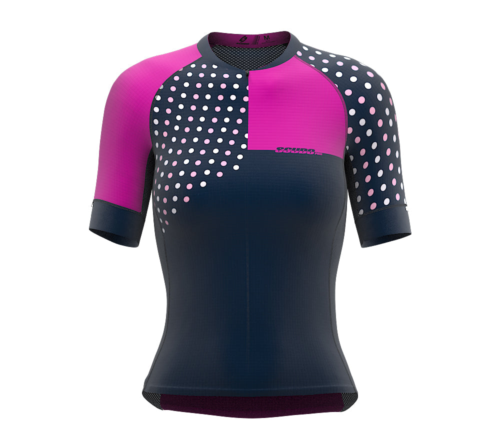 Diagonals Rose Short Sleeve Cycling PRO Jersey