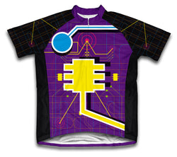 Digital Cyborg Short Sleeve Cycling Jersey for Men and Women
