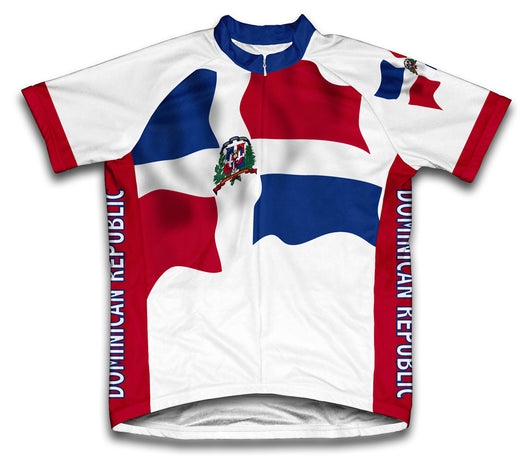 Dominican Republic Flag Cycling Jersey for Men and Women
