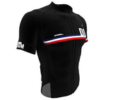 Dominican Republic Black CODE Short Sleeve Cycling PRO Jersey for Men and Women
