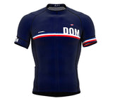 Dominican Republic Blue CODE Short Sleeve Cycling PRO Jersey for Men and WomenDominican Republic Blue CODE Short Sleeve Cycling PRO Jersey for Men and Women