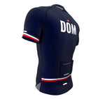 Dominican Republic Blue CODE Short Sleeve Cycling PRO Jersey for Men and Women