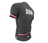 Dominican Republic Gray CODE Short Sleeve Cycling PRO Jersey for Men and Women