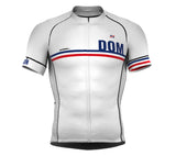 Dominican Republic White CODE Short Sleeve Cycling PRO Jersey for Men and WomenDominican Republic White CODE Short Sleeve Cycling PRO Jersey for Men and Women