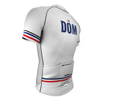 Dominican Republic White CODE Short Sleeve Cycling PRO Jersey for Men and Women