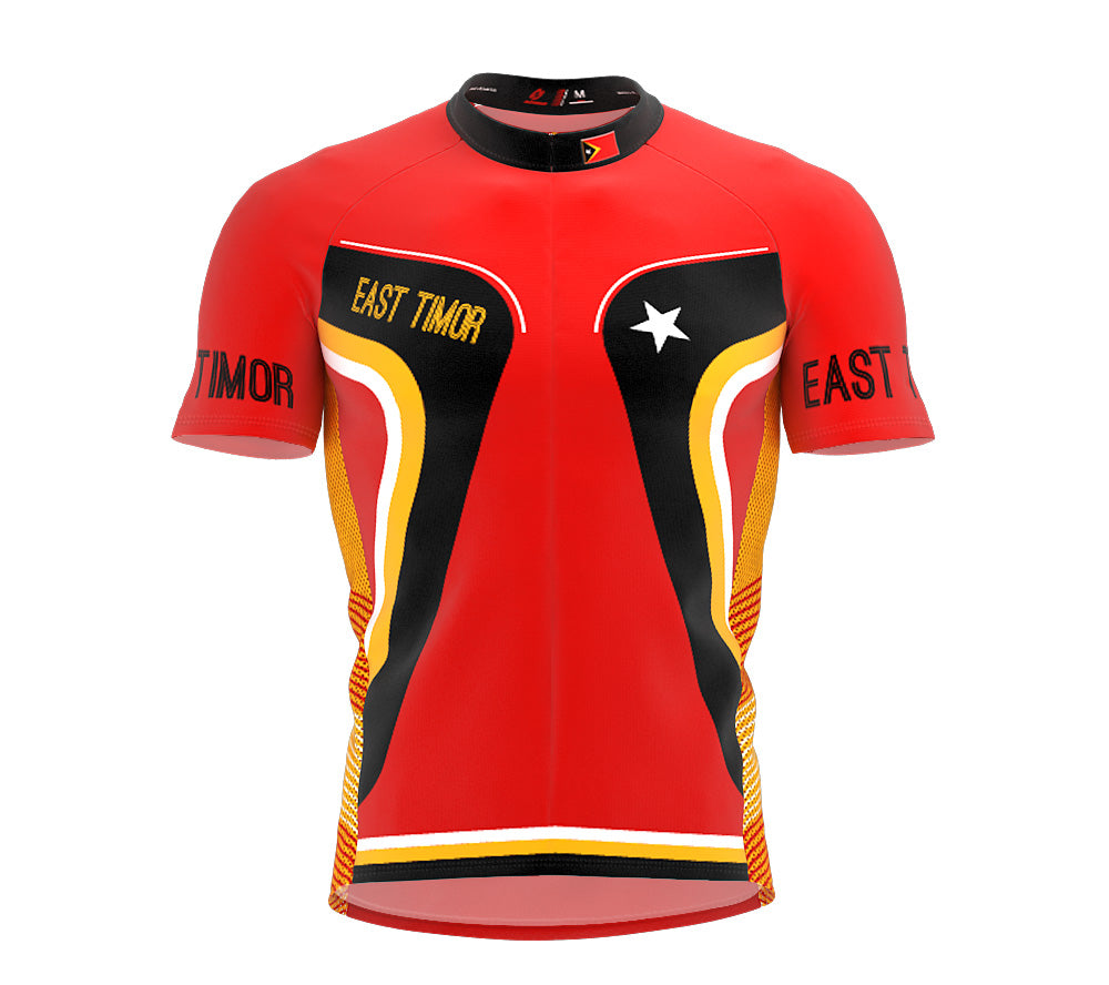 East Timor  Full Zipper Bike Short Sleeve Cycling Jersey