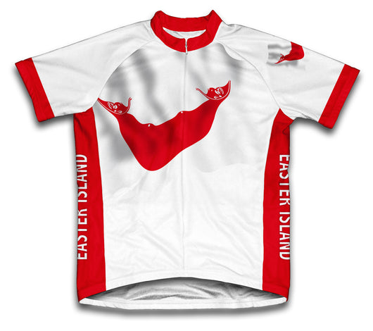 Easter Island Flag Cycling Jersey for Men and Women