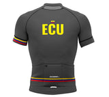 Ecuador Gray CODE Short Sleeve Cycling PRO Jersey for Men and Women