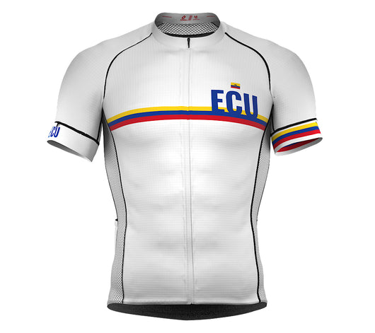 Ecuador White CODE Short Sleeve Cycling PRO Jersey for Men and WomenEcuador White CODE Short Sleeve Cycling PRO Jersey for Men and Women