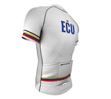 Ecuador White CODE Short Sleeve Cycling PRO Jersey for Men and Women