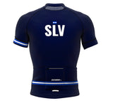 El Salvador Blue CODE Short Sleeve Cycling PRO Jersey for Men and Women
