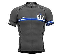 29f9f09a058 El Salvador Gray CODE Short Sleeve Cycling PRO Jersey for Men and WomenEl  Salvador Gray CODE