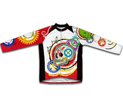 Elegant Skull Winter Thermal Cycling Jersey