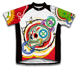 Elegant Skull Short Sleeve Cycling Jersey for Men and Women