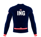ScudoPro Pro Thermal Long Sleeve Cycling Jersey Country CODE England | Men and Women