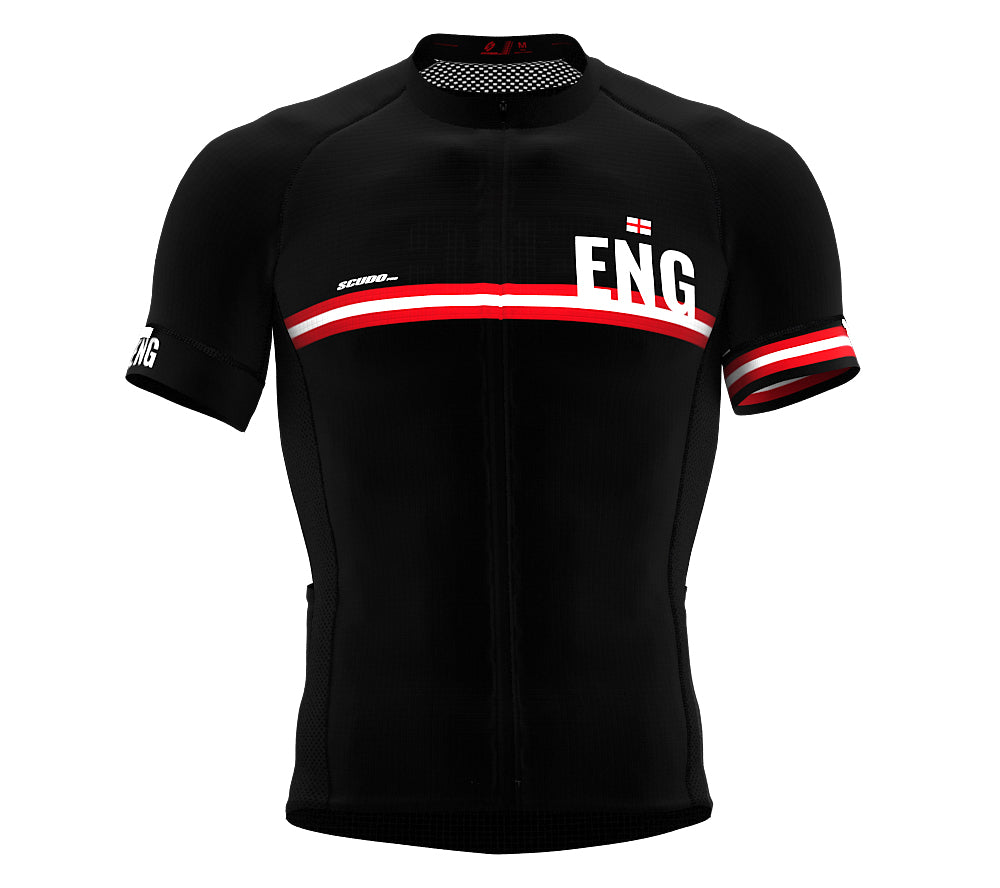 England Black CODE Short Sleeve Cycling PRO Jersey for Men and WomenEngland Black CODE Short Sleeve Cycling PRO Jersey for Men and Women