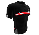 England Black CODE Short Sleeve Cycling PRO Jersey for Men and Women