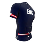 England Blue CODE Short Sleeve Cycling PRO Jersey for Men and Women