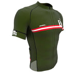 England Green CODE Short Sleeve Cycling PRO Jersey for Men and Women