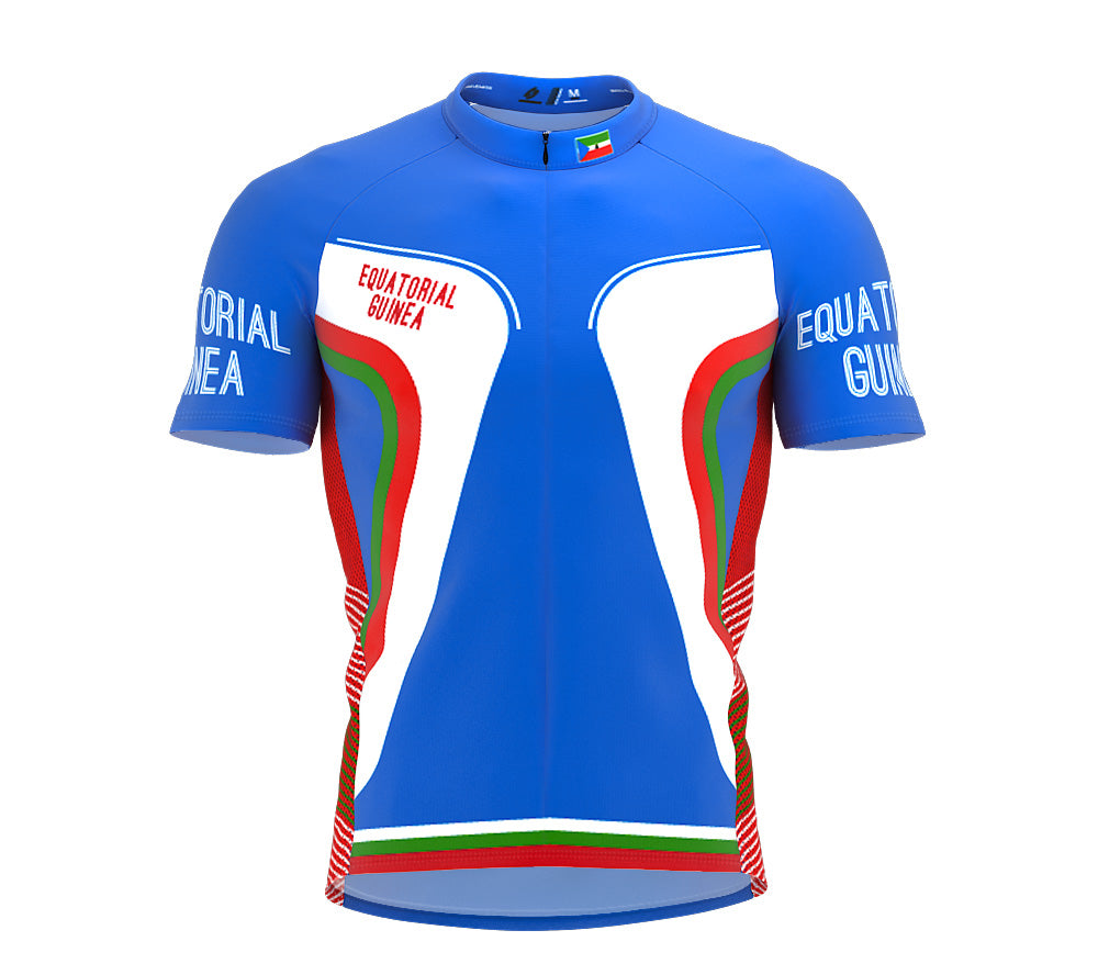 Equatorial Guinea  Full Zipper Bike Short Sleeve Cycling Jersey