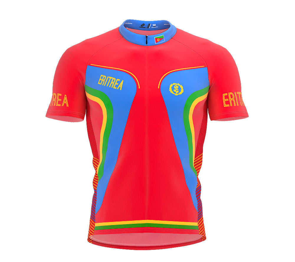 Eritrea  Full Zipper Bike Short Sleeve Cycling Jersey