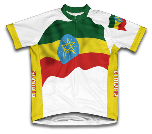 Ethiopia Flag Cycling Jersey for Men and Women