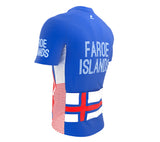 Faroe Islands  Full Zipper Bike Short Sleeve Cycling Jersey