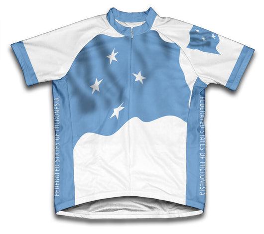 Federated States of Micronesia Flag Cycling Jersey for Men and Women