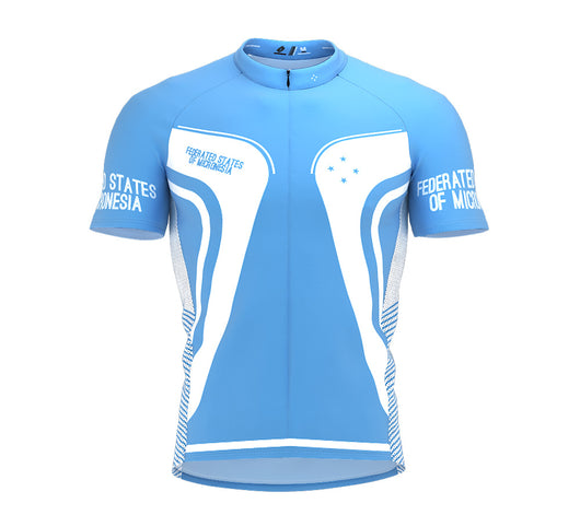 Federated States of Micronesia  Full Zipper Bike Short Sleeve Cycling Jersey