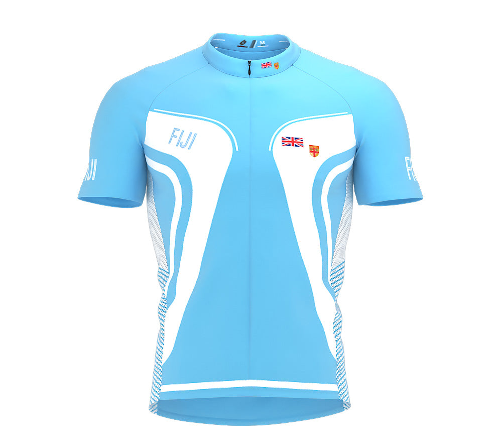 Fiji  Full Zipper Bike Short Sleeve Cycling Jersey