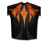 Fire Blaze Short Sleeve Cycling Jersey for Men and Women