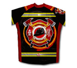 Firefighter Short Sleeve Cycling Jersey for Men and Women