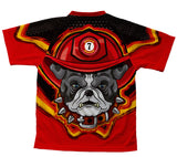 Firefighter Bulldog Technical T-Shirt for Men and Women
