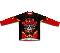 Firefighter Bulldog Winter Thermal Cycling Jersey
