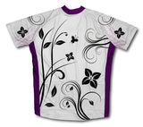Flower Loops Short Sleeve Cycling Jersey for Men and Women