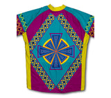 Flower Patterns Short Sleeve Cycling Jersey for Men and Women