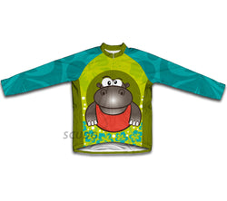 Flowery Hippo Winter Thermal Cycling Jersey