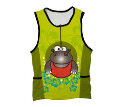 Flowery Hippo Triathlon Top