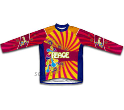 Flowery Peace Winter Thermal Cycling Jersey