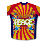 Flowery Peace Short Sleeve Cycling Jersey for Men and Women