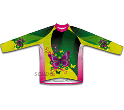 Fluttery Butterfly Winter Thermal Cycling Jersey