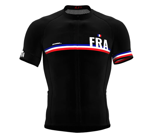 France Black CODE Short Sleeve Cycling PRO Jersey for Men and WomenFrance Black CODE Short Sleeve Cycling PRO Jersey for Men and Women