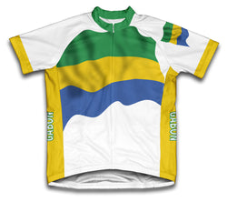 Gabon Flag Cycling Jersey for Men and Women