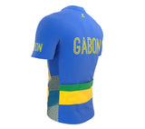 Gabon  Full Zipper Bike Short Sleeve Cycling Jersey