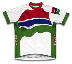 Gambia Flag Cycling Jersey for Men and Women