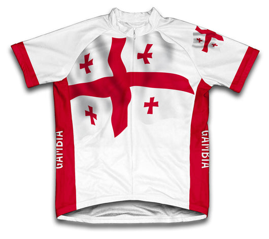 Georgia Country Flag Cycling Jersey for Men and Women