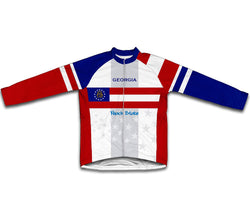 Georgia Flag Winter Thermal Cycling Jersey
