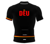 Germany Black CODE Short Sleeve Cycling PRO Jersey for Men and Women