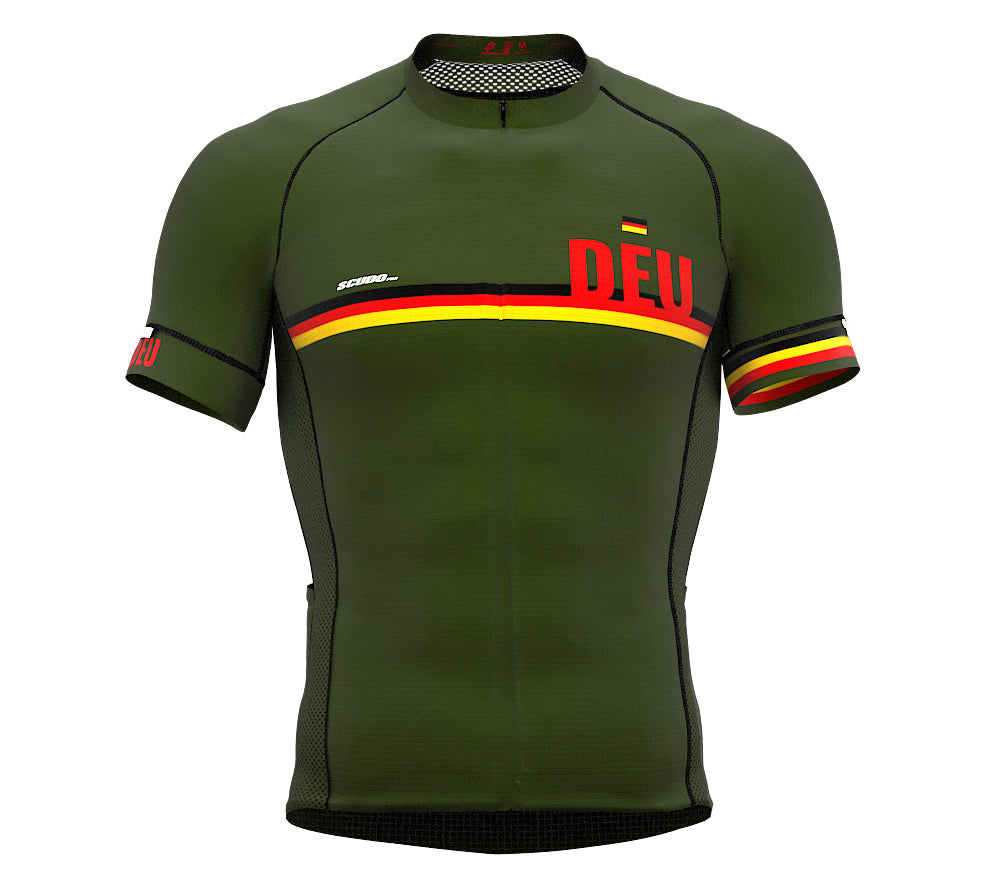 Germany Green CODE Short Sleeve Cycling PRO Jersey for Men and WomenGermany Green CODE Short Sleeve Cycling PRO Jersey for Men and Women