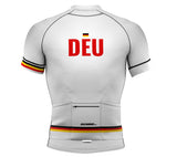 Germany White CODE Short Sleeve Cycling PRO Jersey for Men and Women